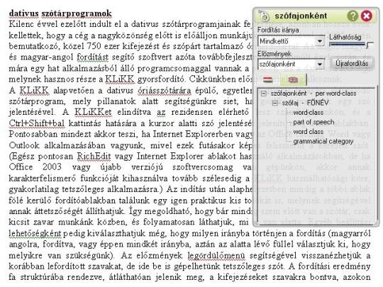 dativus szótárprogramok