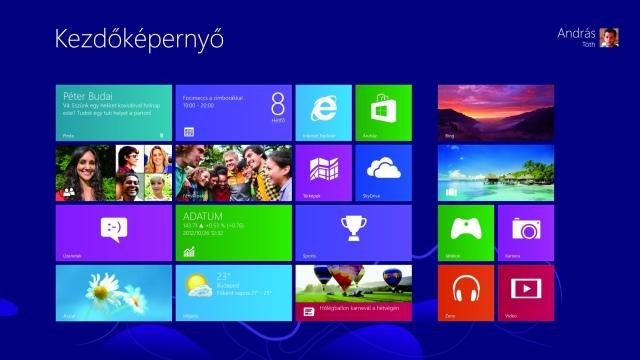 Október végén megérkezett a Windows 8