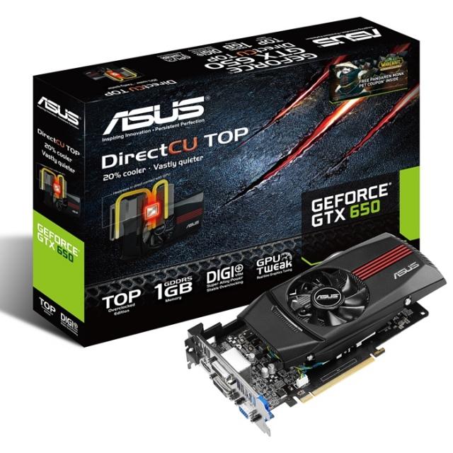 WoW pet jár az ASUS GeForce GTX 650 DirectCU videokártyája mellé