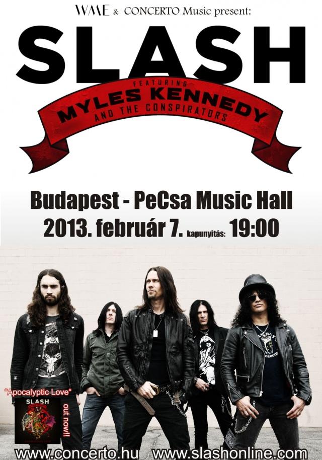 Februárban Budapestre jön Slash és zenekara