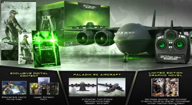 Távirányítós repülővel jön a Splinter Cell: Blacklist Collector's Edition