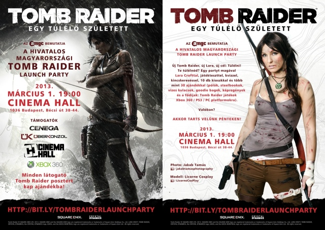 Tomb Raider launch party holnap