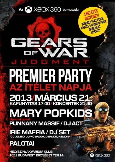 Gears of War: Judgment launch party jövő csütörtökön