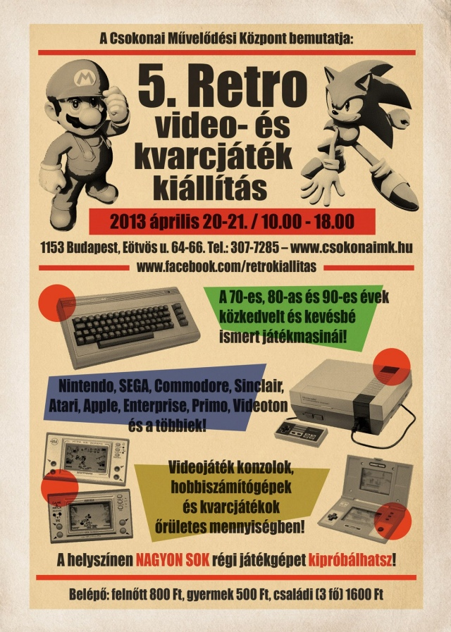 Programajánló: 5. Retro video- és kvarcjáték kiállítás