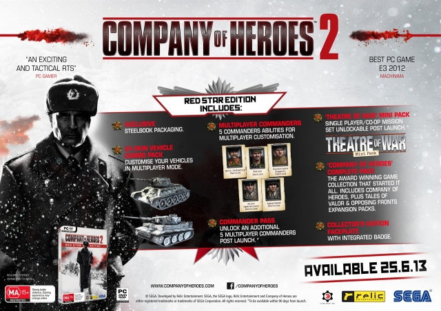 Bemutatták a Company of Heroes 2 Red Star Editiont
