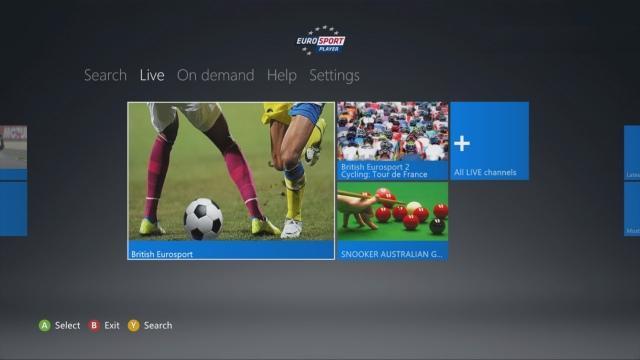 Xbox 360-on is nézhető a Eurosport adása
