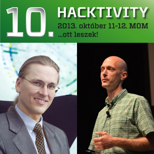 Charlie Miller és Mikko Hypponen az idei Hacktivity két keynote előadója