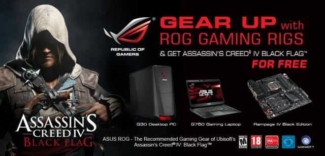 Assassin's Creed IV jár egyes ASUS gamer termékek mellé