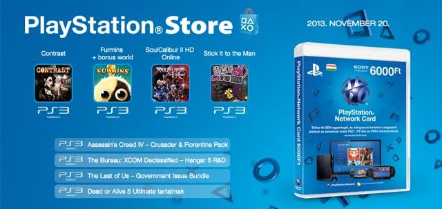 PlayStation Store - heti megjelenések - 2013. 47. hét