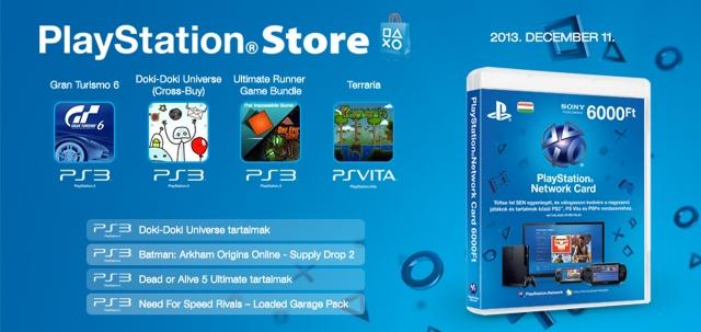 PlayStation Store - heti megjelenések - 2013. 50. hét