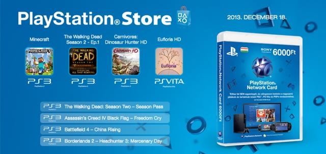PlayStation Store - heti megjelenések - 2013. 51. hét