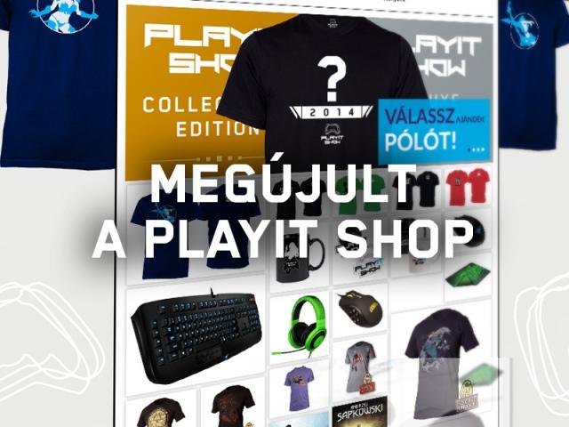 Megújult a PlayIT webshopja