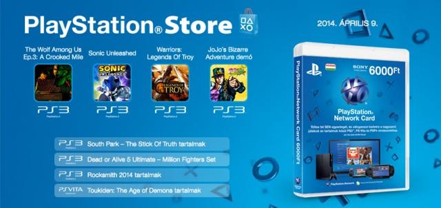 PlayStation Store - heti megjelenések - 2014. 15. hét