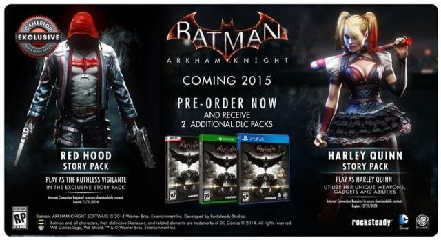 Izgalmas DLC-ket kapnak a Batman: Arkham Knight előrendelői