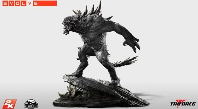 Limitált Goliath szobor az Evolve-hoz