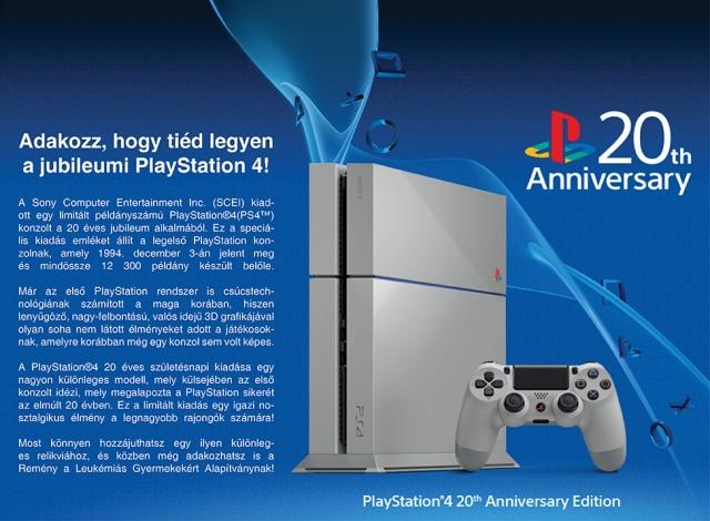 Jótékonysági aukción egy jubileumi PlayStation 4