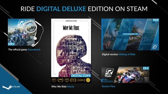Digital Deluxe kiadást kap Steamen a RIDE