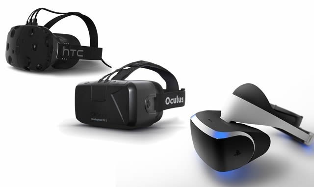 Az Oculus Rift, a Morpheus és a Vive VR