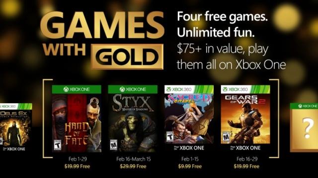 A Games with Gold 2016. februári ajánlata