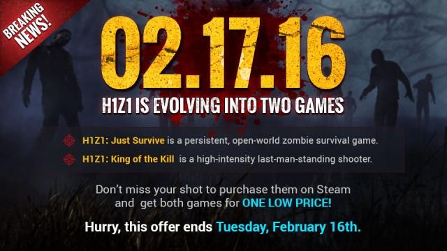 Két játékká válik a H1Z1