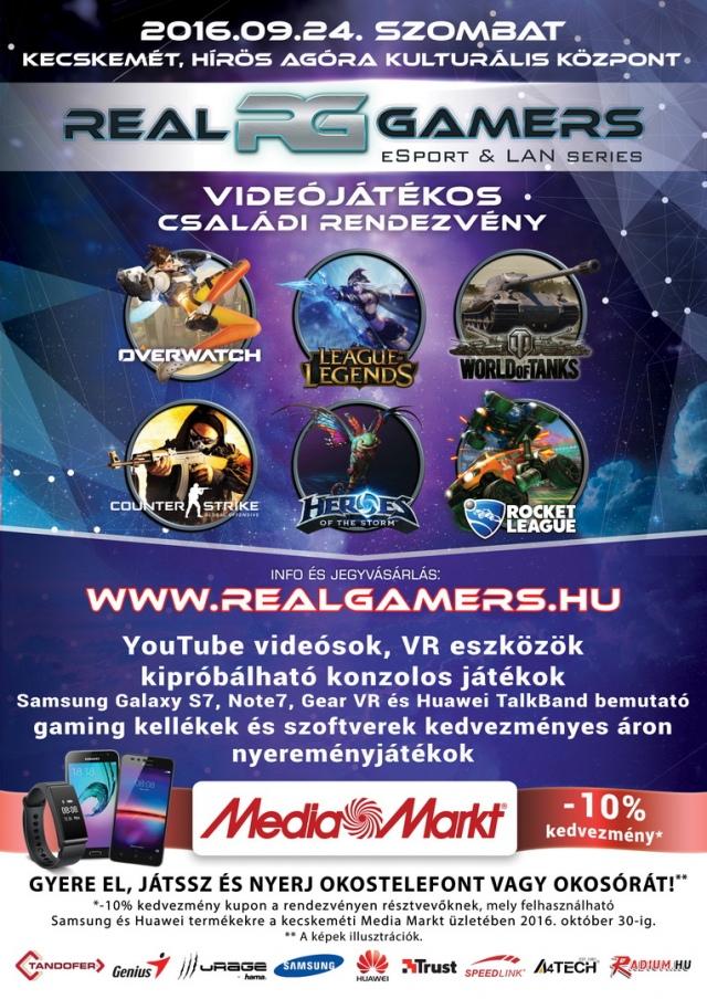 Real Gamers eSport rendezvény Kecskeméten