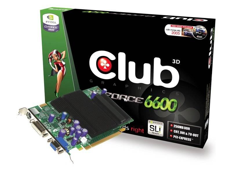 Club 3D 6600 Passive 256 MB videokártya passzív hűtéssel