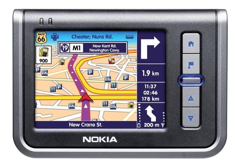 Autós navigációs készülék a Nokiától