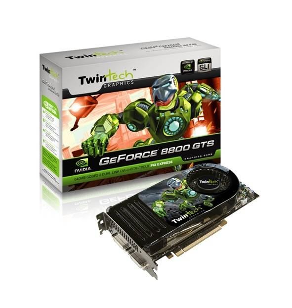 Felpörgetett GeForce 8800 GTS a Twintechtől