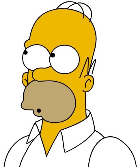 Homer Simpson haja
