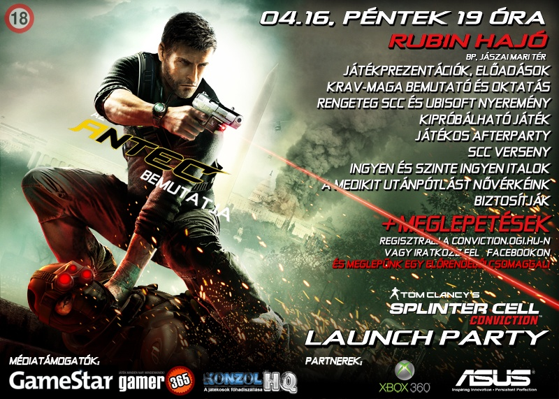 Splinter Cell Conviction launch party