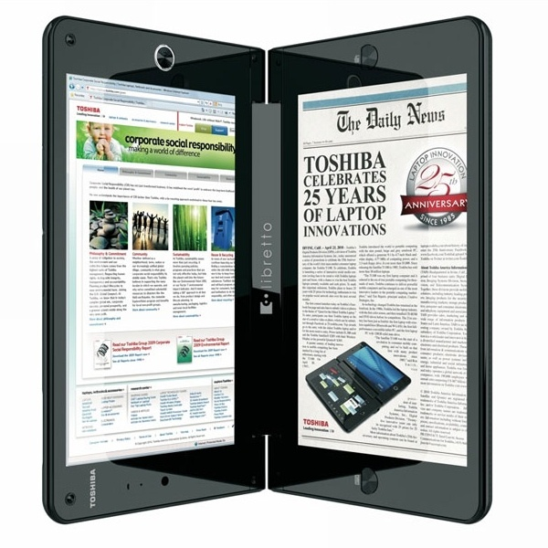Toshiba Libretto W100: a világ első kétkijelzős notebookja