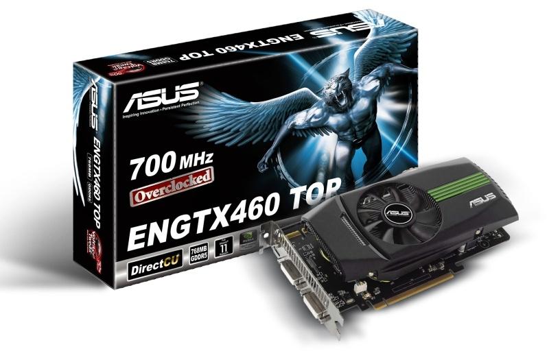 Érkeznek az ASUS GeForce GTX 460 alapú videokártyái is