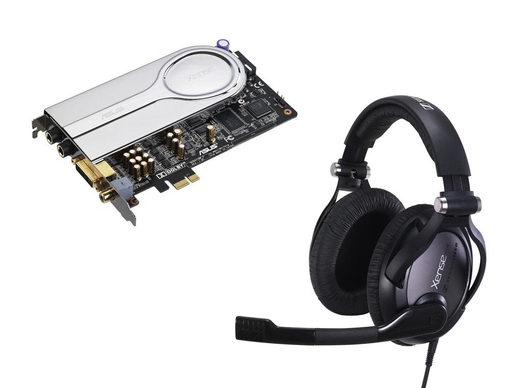ASUS Xonar Xense csomag Sennheiser PC350 headsettel