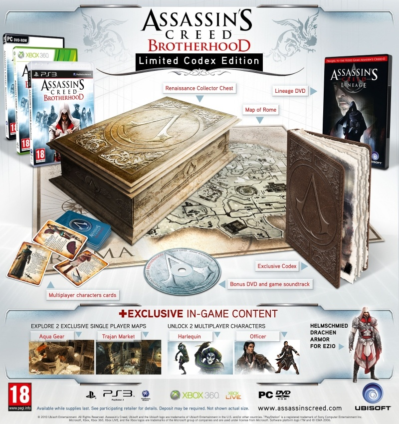 Assassin's Creed Brotherhood - Codex gyűjtői verzió