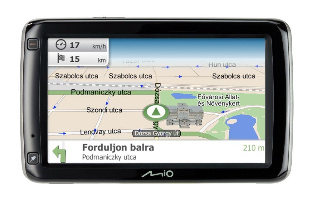 Új Mio GPS készülék forgalomfigyeléssel