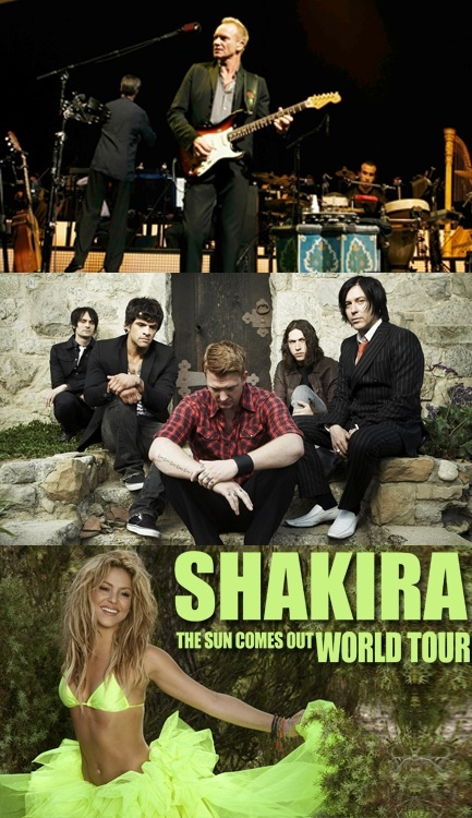 Május-júniusi koncertek: Sting, Queens of the Stone Age, Shakira