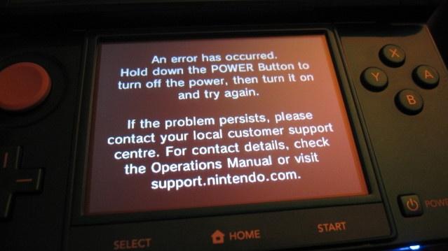 Gondok a Nintendo 3DS körül