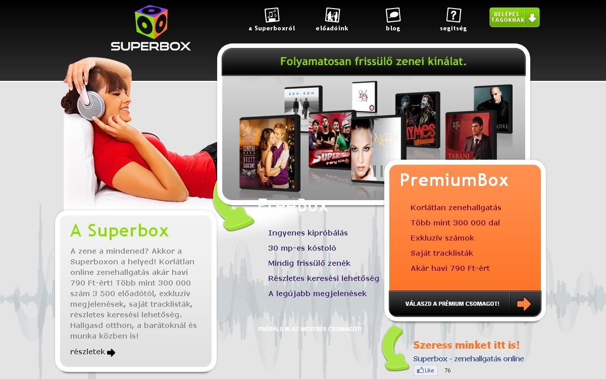 Superbox: online zenehallgatás 300 ezer dallal
