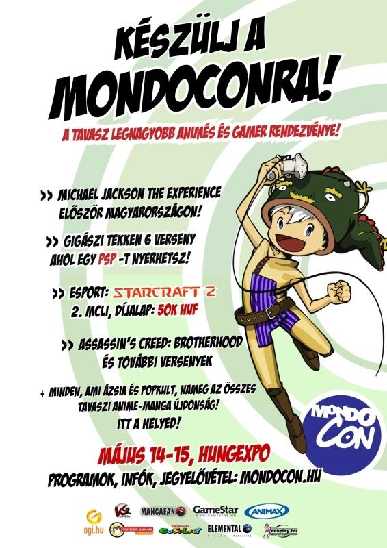 Programajánló: MondoCon 2011 jövő hétvégén