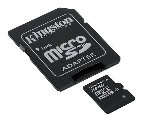32 GB-os Class 10 microSDHC a Kingsontól