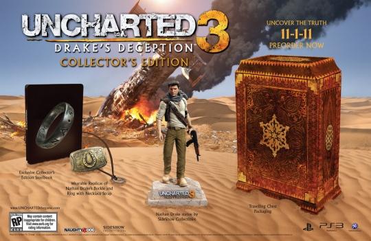Uncharted 3: Drake's Deception - íme a gyűjtői kiadás