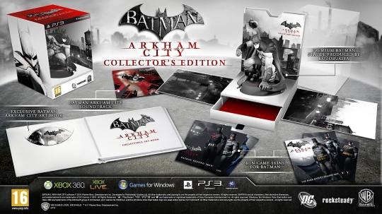 Batman Arkham City gyűjtői kiadás végső tartalom