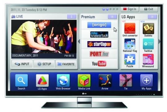Internet a nappaliban - LG okostévék