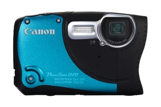 Canon PowerShot D20: újabb víz- és ütésálló fényképezőgép