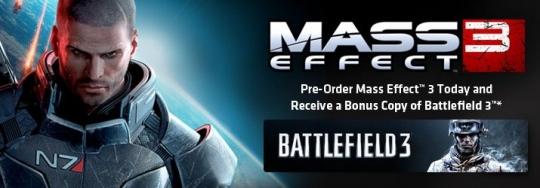 Mass Effect 3 - előrendeléshez Battlefield 3 jár