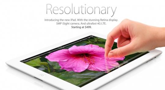 Retina Display-jel érkezik az új iPad