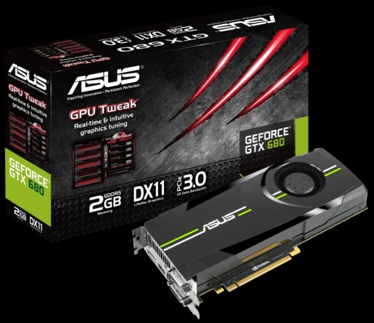 ASUS GeForce GTX 680 az új NVIDIA chippel