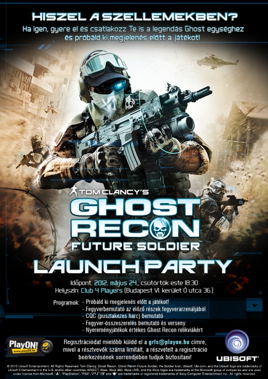 Ghost Recon Future Soldier launch party