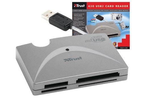 USB 2.0-ás 6 az 1-ben memóriakártya-olvasó a Trusttól