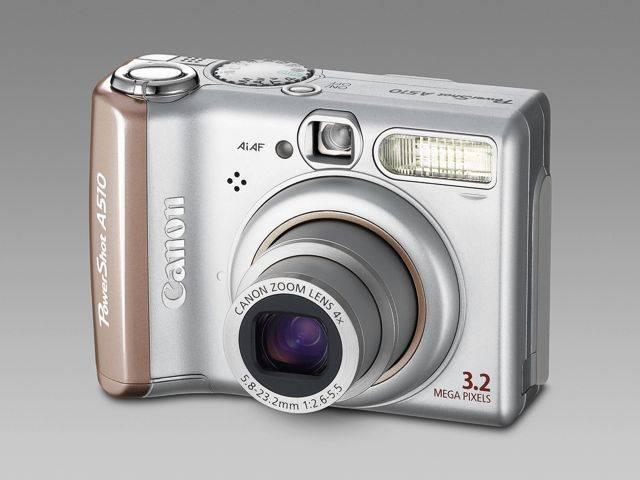 Canon PowerShot A510: az A75 utódja 4-szeres zoommal